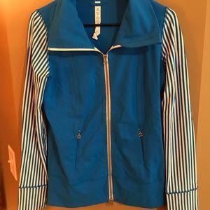 Lululemon Daily Yoga Jacket Blue White Striped